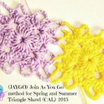 Join As You Go Method for Spring and Summer Triangle Shawl ~ Erangi Udeshika – Crochet For You