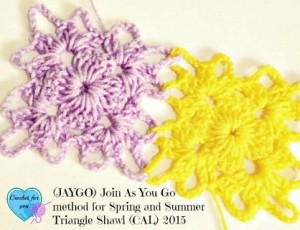 Join As You Go Method for Spring and Summer Triangle Shawl ~ Erangi Udeshika - Crochet For You