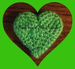 3D Heart Applique ~ Manda Proell - MandaLynn's Crochet Treasures
