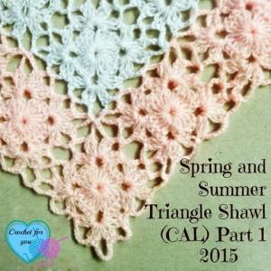 Spring and Summer Triangle Shawl Part 1 ~ Erangi Udeshika - Crochet For You
