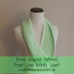 Front Loop Infinity Scarf ~ Cream Of The Crop Crochet