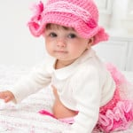 Country Baby Diaper Cover and Hat ~ Trish Warrick – Red Heart