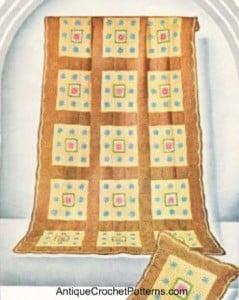 Rose Blanket & Pillow ~ Antique Crochet Patterns