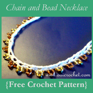 Chain and Bead Necklace ~ Oui Crochet