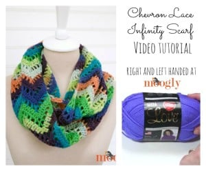 Chevron Lace Infinity Scarf Tutorial ~ Moogly