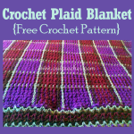 Crochet Plaid Blanket ~ Oui Crochet