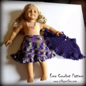 Dolly's Spring Time Skirt ~ Jennifer Gregory - Niftynnifer's Crochet & Crafts