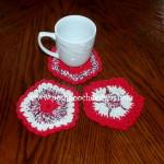 Patriotic Flower Coaster ~ Sara Sach – Posh Pooch Designs