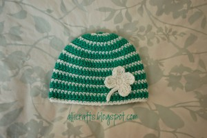 Thick and Thin Striped Beanie - 9-12 Months ~ Alli Crafts