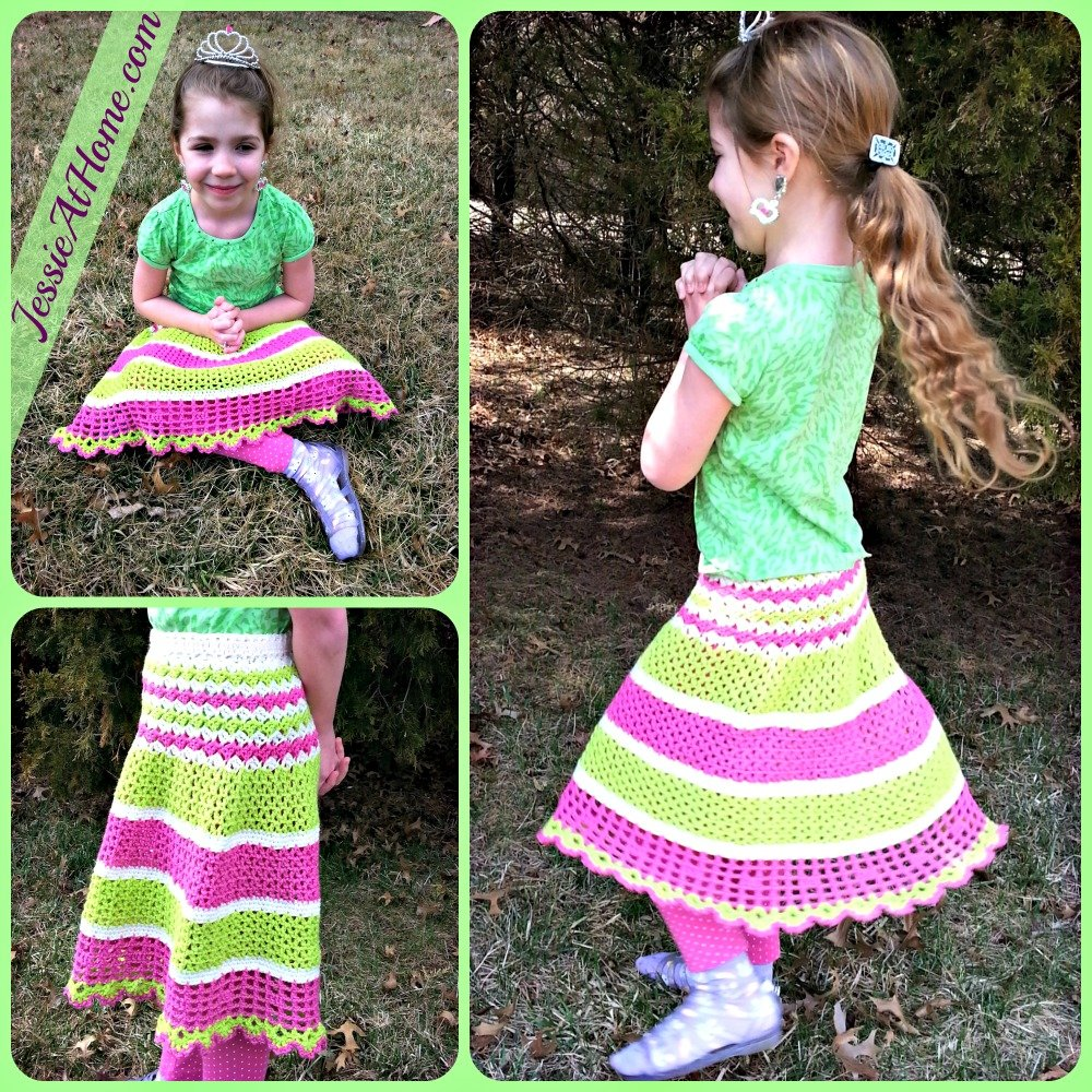 Free Crochet Pattern For Cowgirl Skirt : Daisy Childs Skirt ~ FREE Crochet Pattern