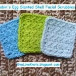 Robin's Egg Slanted Shell Facial Scrubbies ~ Alexandra Richards - EyeLoveKnots