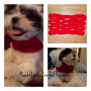 Easy Breezy Cowl for Pup ~ Manda Proell - MandaLynn's Crochet Treasures