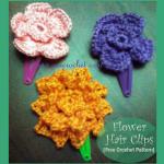 Flower Hair Clips ~ Oui Crochet
