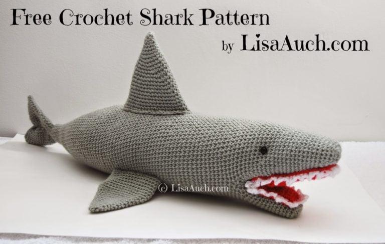 Crochet Shark Shoes Free Pattern : Crochet Shark ~ FREE Crochet Pattern