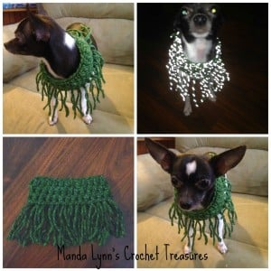 Fringe Reflect Cowl 4 Pup ~ Manda Proell - MandaLynn's Crochet Treasures