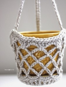 Flower Pot Hanging Basket ~ Repeat Crafter Me