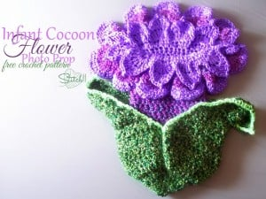 Infant Cocoon Flower Photo Prop ~ Stitch11
