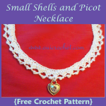 Small Shells and Picot Necklace ~ Oui Crochet
