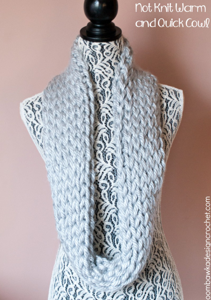 Quick Crochet Cowl Free Pattern : Not Knit Warm and Quick Winter Cowl ~ FREE Crochet Pattern
