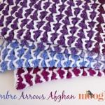 Ombre Arrow Afghan ~ Moogly