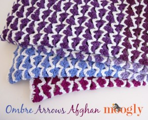 Ombre Arrow Afghan ~ Moogly