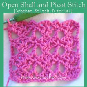 Open Shell and Picot Stitch ~ Oui Crochet