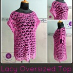 Lacy Oversized Top ~ Maz Kwok's Designs