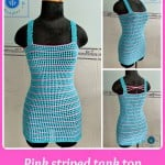 Pink Striped Tank Top ~ Maz Kwok's Designs