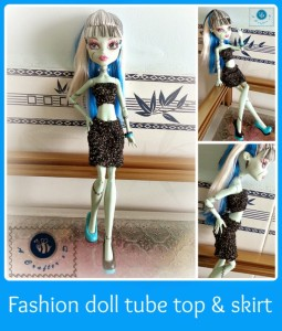 Fashion Doll Tube Top and Skirt ~ Maz Kwok's Designs