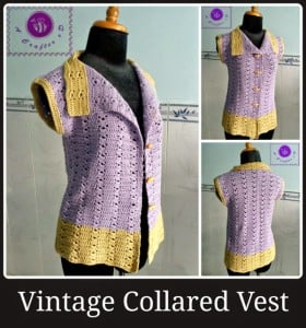 Vintage Collared Vest ~ Maz Kwok's Designs