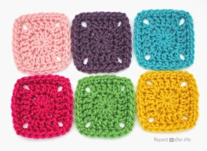Pixel Crochet Square ~ Repeat Crafter Me