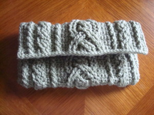 Lining My Craftsy Quick & Easy Crochet Cables Clutch ~ Yarn Over, Pull Through