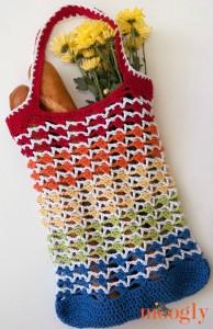 Rainbow Runner Tote Bag ~ Moogly