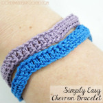 Simply Easy Chevron Bracelet ~ Oombawka Design