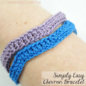 Simply Easy Chevron Bracelet ~ Oombawka Design