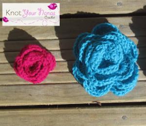Simple Crochet Roses (3 Sizes) ~ Knot Your Nana's Crochet