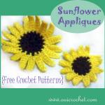 Sunflower Appliques ~ Oui Crochet