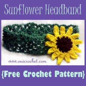 Sunflower Headband ~ Oui Crochet