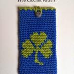 Shamrock Phone Cover ~ My Hobby is Crochet