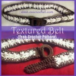 Textured Belt ~ Oui Crochet
