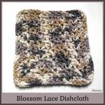Blossom Lace Dishcloth ~ Rhelena – CrochetN'Crafts