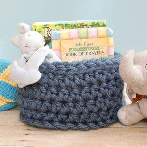Chunky Crochet Basket ~ Petals to Picots