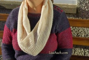 Free Crochet Patterns And Designs By Lisaauch : Easy Cowl Infinity Scarf ~ Free Crochet Pattern