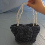 Chenille Rose Purse ~ Donna's Crochet Designs