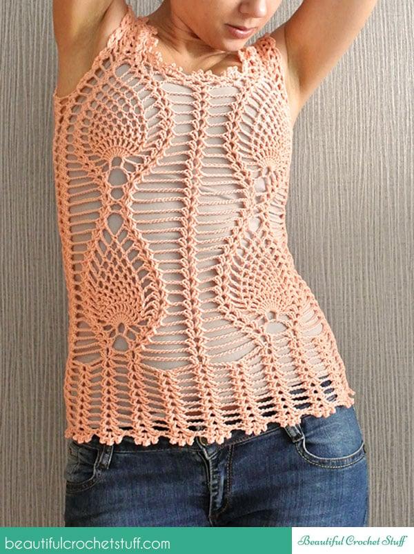 Pineapple Crochet Top Free Crochet Pattern