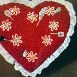 Sweetheart Pin Cushion ~ Free Vintage Crochet