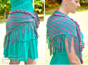 Crochet Lacy Shawlette, Shrug and Wrap ~ My Merry Messy Life