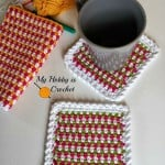 Woven Stitch Coasters ~ My Hobby is Crochet