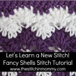 Fancy Shells Stitch and Afghan Square ~ The Stitchin' Mommy
