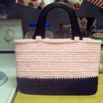 Pink and Black Oblong Purse ~ Dly's Hooks and Yarns